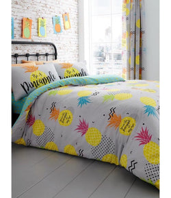 Double to Queen Quilt Cover Set - Pineapple
