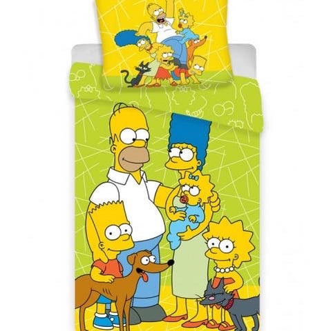 The Simpsons Single Quilt Cover Set EURO CASE