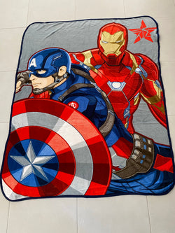MARVEL AVENGERS Throw Size Faux Mink Blanket