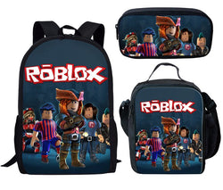 ROBLOX 3 Piece Backpack Set (Cooler bag, Pencil Case)