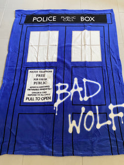SLIGHT FAULT ~ DR WHO Throw Size Faux Mink Blanket