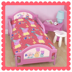 PEPPA - Toddler Bed/Cot Quilt Cover Set