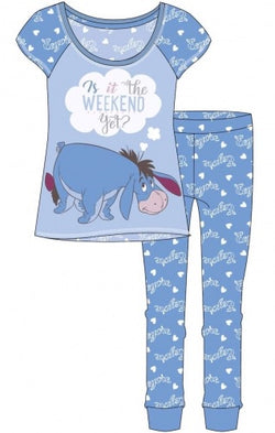PRE ORDER Eeyore Pooh Ladies Winter Pant Pyjama Pj UK SIZING