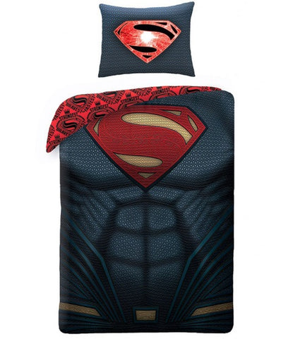 Superman Single Quilt Cover Set EURO Case