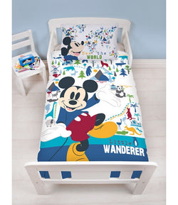 MICKEY - Toddler Bed/Cot Quilt Cover Set