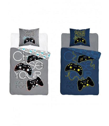 Game Over Single Quilt Cover Set EURO CASE