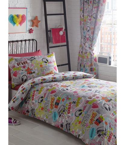 GIRLS URBAN DANCE Single Quilt Cover Set