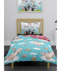 Nici Theodore Unicorn Single Quilt Cover Set