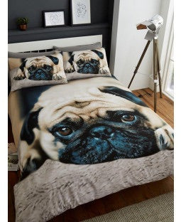 Pug Single Quilt Cover Set
