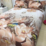 PRE ORDER Queen Quilt Cover Set— Rose Brown 4pce