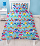 Baby Shark Rainbow Licensed Single Quilt Cover Set POLYESTER
