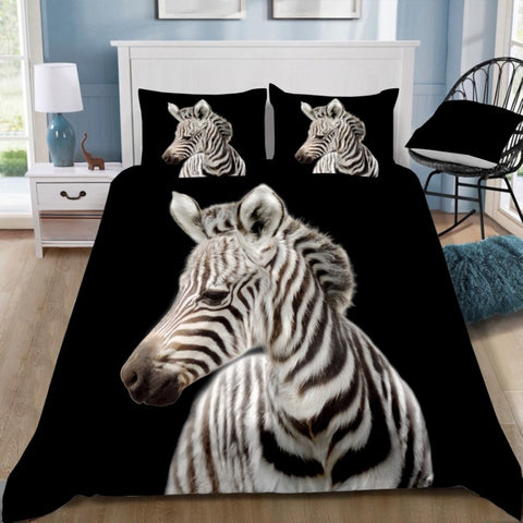 Zebra Quilt Cover Set
