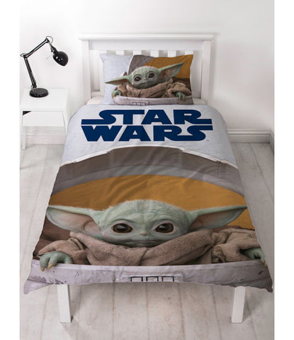 Star Wars Baby Yoda Mandalorian Single Quilt Cover Set
