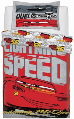 Cars McQueen Single Quilt Cover Set