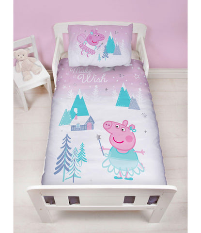PEPPA PIG - Toddler Bed/Cot Quilt Cover Set
