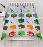 MINECRAFT Double to Queen Quilt Cover Set POLYESTER
