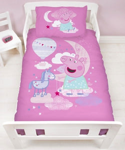 Peppa Pig Stardust - Toddler Bed/Cot Quilt Cover Set