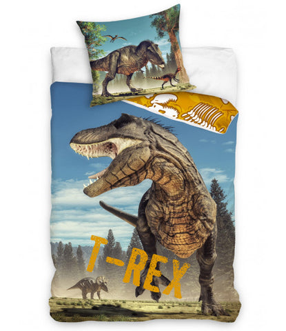 Dinosaur Single Quilt Cover Set EURO Case