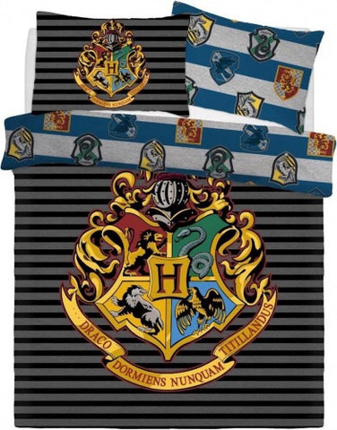 Harry Potter Crest Double to Queen Quilt Cover Set POLYESTER
