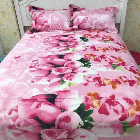 PRE ORDER Queen Quilt Cover Set— Rose pink 4pce