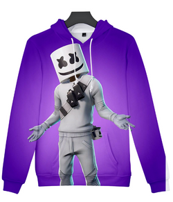 SMALLER MAKE Marshmello purple hoodie jumper kids-adults