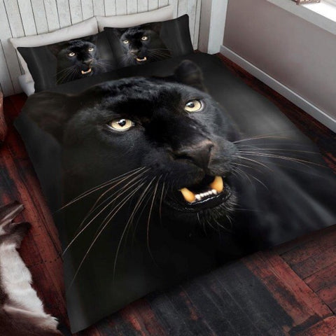 PRE ORDER Panther Single Size Quilt Cover Set