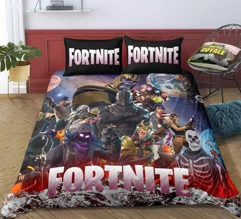 Fortnite Quilt Cover Set Black KING