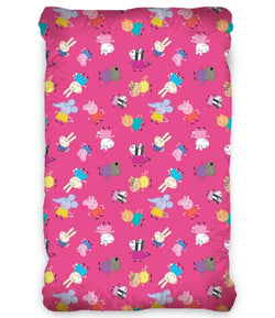 PEPPA PIG PINK Single fitted sheet ONLY