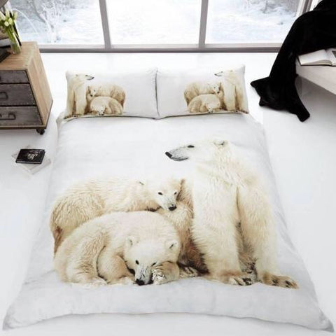 Polar Bear Double to Queen Quilt Cover Set