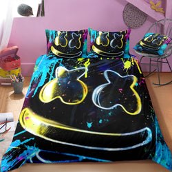 Marshmello Black Quilt Cover Set