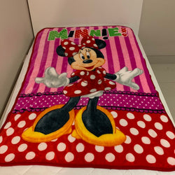 Minnie Mouse Throw Size Faux Mink Blanket - all season