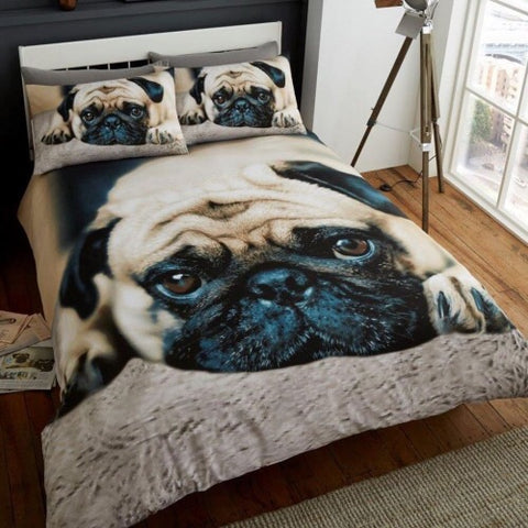 PRE ORDER Pug King Size Quilt Cover Set