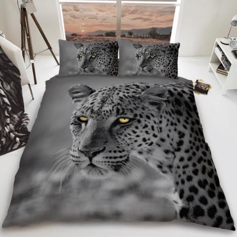 Leopard Double to Queen Quilt Cover Set
