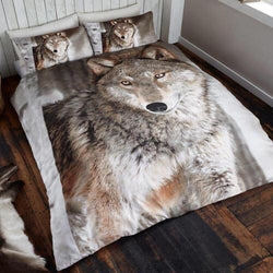 PRE ORDER Wolf King Size Quilt Cover Set