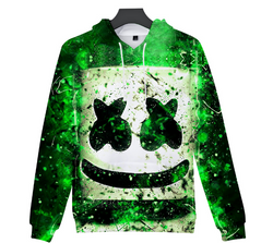 SMALLER MAKE Marshmello green hoodie jumper kids-adults