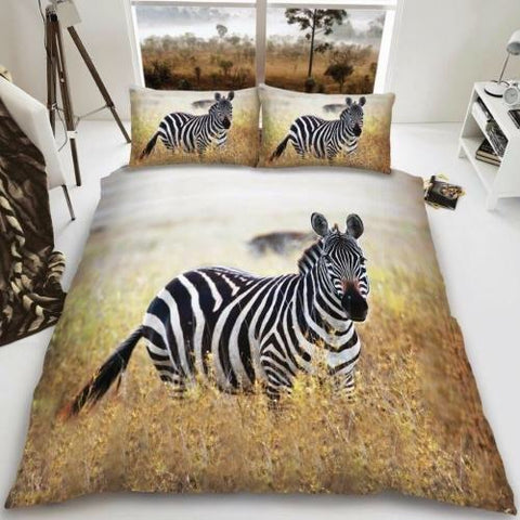 Zebra Double to Queen Quilt Cover Set