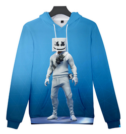 SMALLER MAKE Marshmello blue hoodie jumper kids-adults
