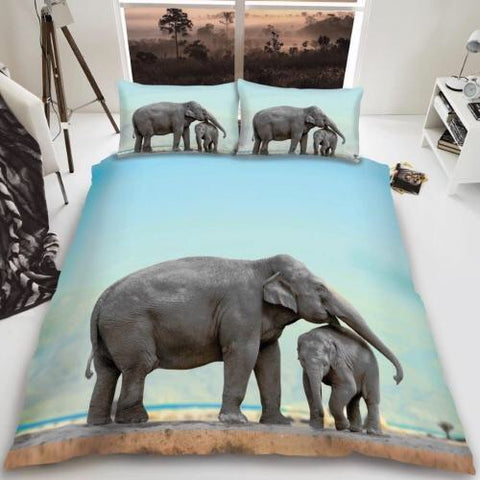 Elephant King Size Quilt Cover Set