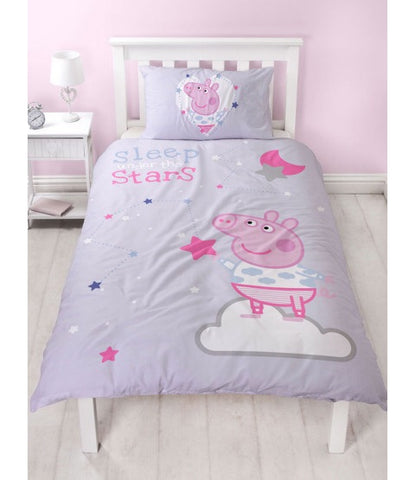 PRE ORDER Peppa Pig Single Quilt Cover Set