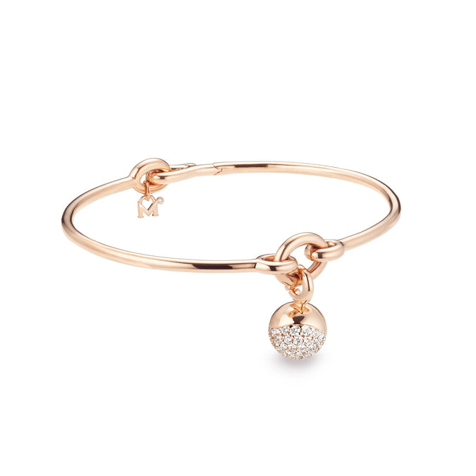 AURA Single Pavé Charm Bracelet
