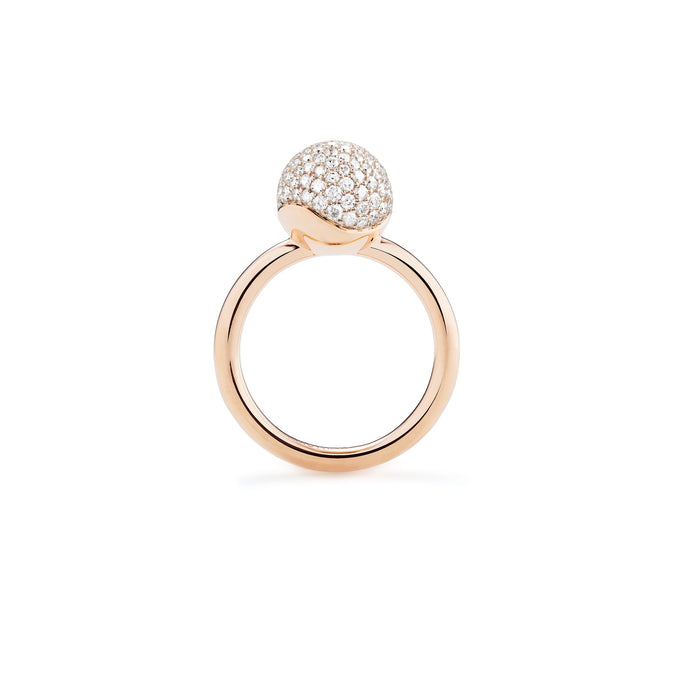 AURA Small Pavé Sphere Ring