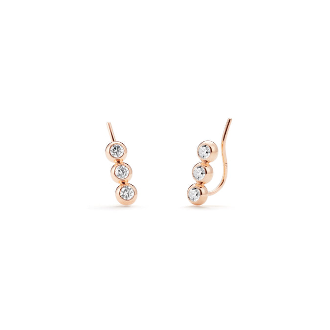 STELLAR Tri-Star Climber Earrings