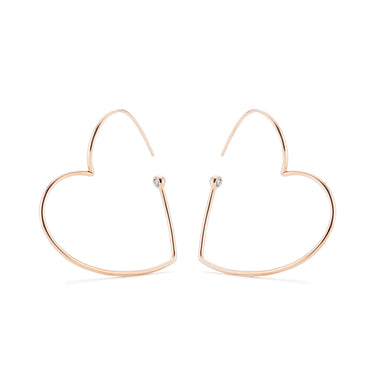 WHISPER HEART Medium Hoop Earrings