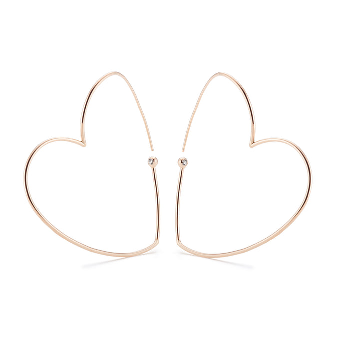 WHISPER HEART XL Hoop Earrings