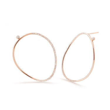 WHISPER Medium Pavé Wave Earrings