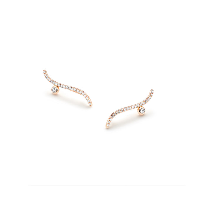 WHISPER Pavé Climber Earrings