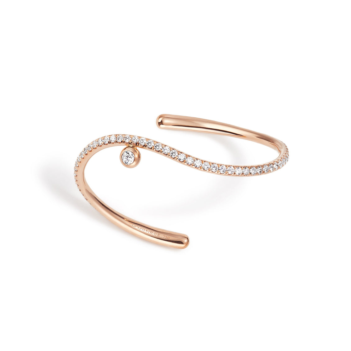 WHISPER Pavé Wave Cuff