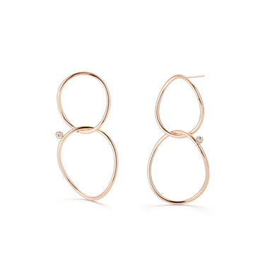 WHISPER Small Double Hoop Earrings