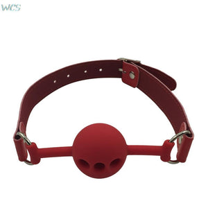Open Mouth Gag with PU Leather Band Ball