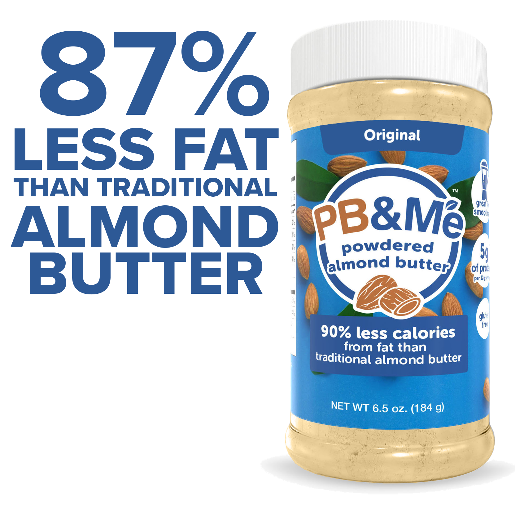 Powdered Almond Butter, Original, 6.5oz